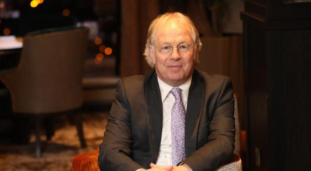 Journalist Eamonn Mallie during an interview with Belfast Telegraph's Claire McNeilly in the Grand Central Hotel
