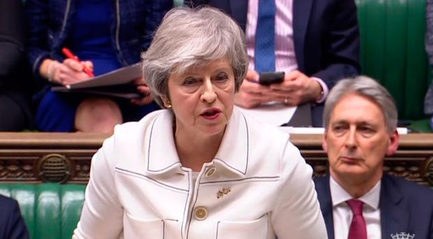 Prime Minister Theresa May makes a statement to the House of Commons