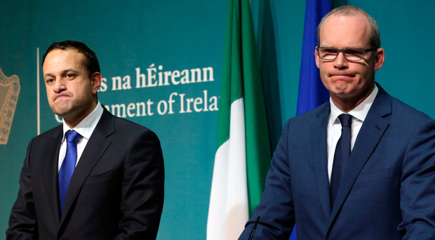 Taoiseach Leo Varadkar (left) and Tanaiste Simon Coveney have refused to accept any changes to the withdrawal agreement
