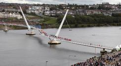 Londonderry's Peace Bridge was built with the help of EU funding
