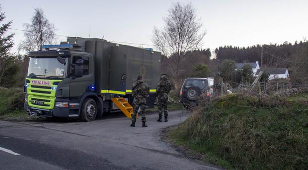 Gardai and the Irish army carry out the searches in Omeath