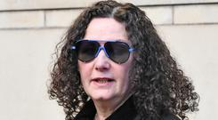 Deena Kitson leaves court after seeing Kenneth Cowan jailed for the murder of her son Brian