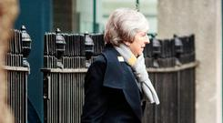 Prime Minister Theresa May during her visit yesterday