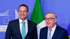 Taoiseach Leo Varadkar and Mr Juncker on Wednesday