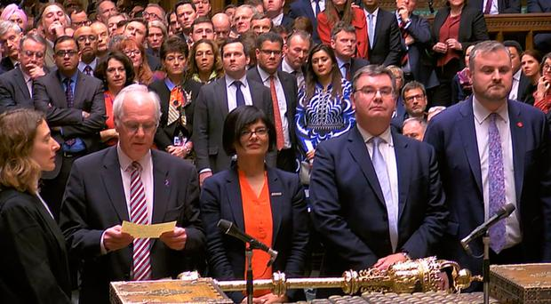 Brexit result is announced in the Commons last night