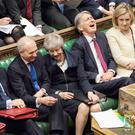 Theresa May during Prime Minister's Questions in the Commons yesterday