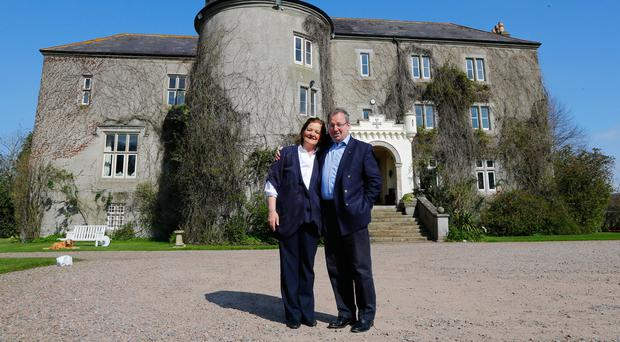 Danny Kinahan with is wife Anna at Castle Upton in Co Antrim