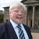 Simon Weston with Jim Dixon of the Ely Centre at launch of Brooke House