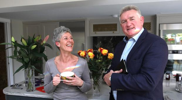 Alan Mains and his wife Allison at home