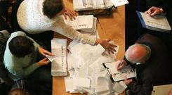 Counting gets underway at Belfast City Hall