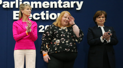 From left: Martina Anderson, Naomi Long and Diane Dodds