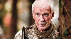Ian McElhinney in Game of Thrones as the character Ser Barristan Selmy