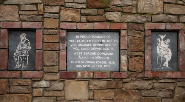The memorial in Strabane that was damaged