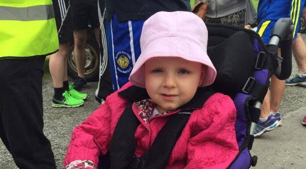 Eva Tomney, who passed away in 2015 at the age of seven, three years after being diagnosed with a rare brain tumour