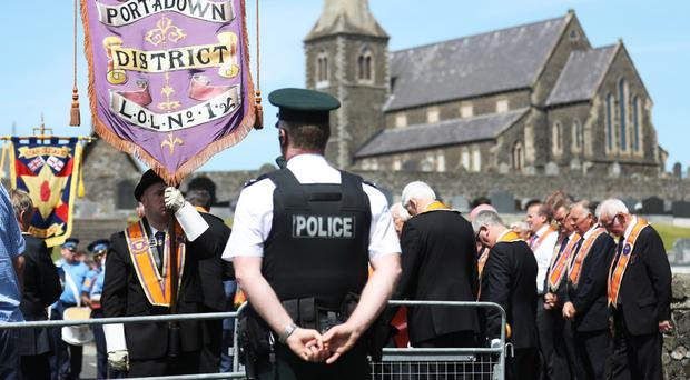 The annual stand-off at Drumcree yesterday