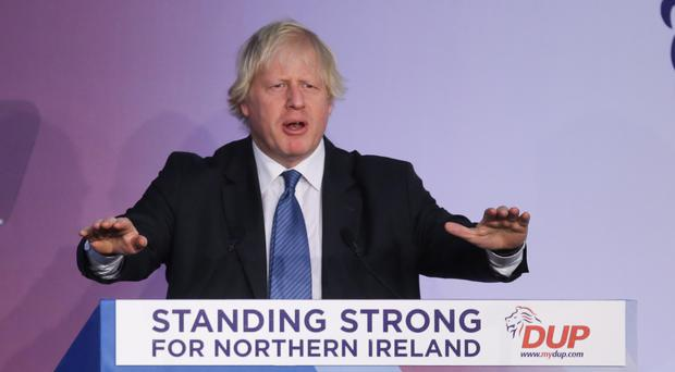 Boris Johnson at the DUP conference