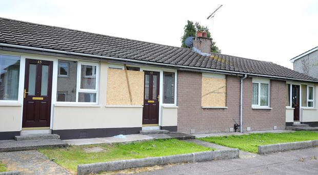 The house on Bangor's Kilcooley estate was attacked overnight