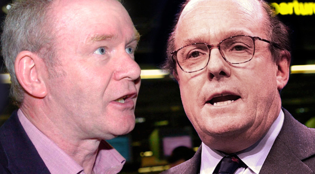 Martin McGuinness and Michael Ancram