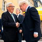 Prime Minister Boris Johnson meets European Commission President Jean-Claude Juncker