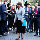 DUP leader Arlene Foster arrives to address Dublin Chamber
