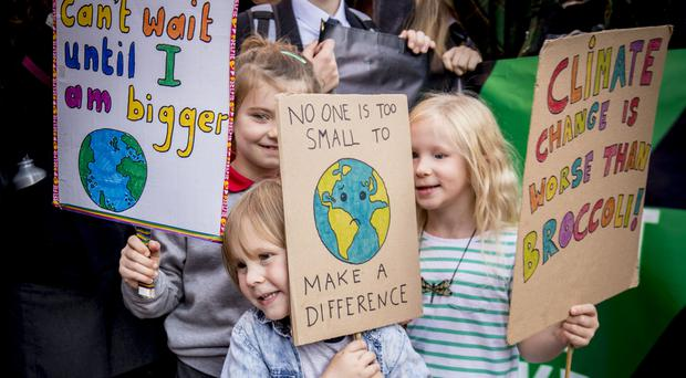 Scenes from yesterday's climate change protest in Belfast city centre