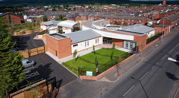 Iveagh Centre in west Belfast, where the nurse worked