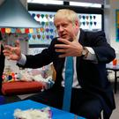 Prime Minister Boris Johnson during a visit to a primary school in Beaconsfield yesterday