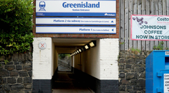 Greenisland train station, close to where the shooting took place
