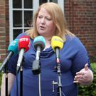 Press Eye - UUP - Stormont House - 30th May 2019 Photograph by Declan Roughan Naomi Long, Alliance Leader, speaking outside Stormont House.