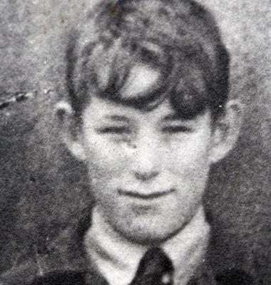 Seamus Heaney as a past pupil at Annahorish Primary School in Toome.