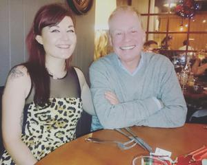 Norman Houston with his daughter Chloe