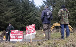 The protest at Woodburn Forest