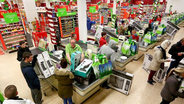 Shoppers in Asda in west Belfast on the hunt for bargains in the Black Friday sales