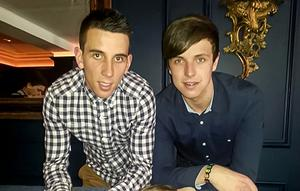 Tiernan Green (right) with his brother Stefan