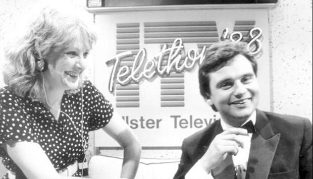 On ITV's Telethon in 1988. Eamonn stepped in at the last minute when original anchor Gerry Kelly, fell ill.
