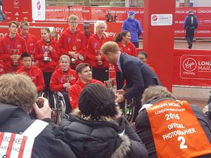 Prince Harry presents the Belfast teen with his trophy