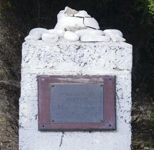 The memorial from which statue was stolen