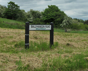 Some of the townland signs which can still be seen across Northern Ireland. Photo: Karolyn Cooper