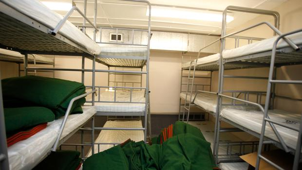 Some of the dormitories in the nuclear bunker