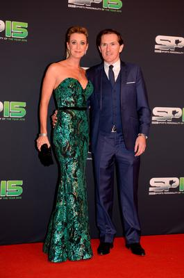 Chanelle and AP McCoy at the BBC Sports Personality of the Year ceremony at SSE Arena