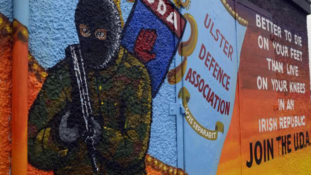 The new UDA mural in the Glenfield estate