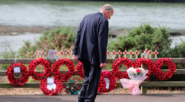 General Sir Mike Jackson at the Narrow Water remembrance