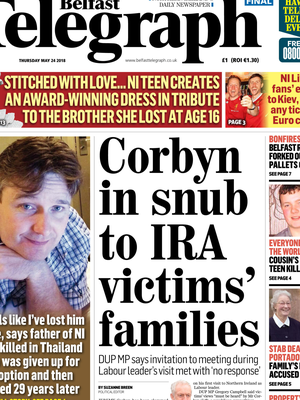 Yesterday's front page