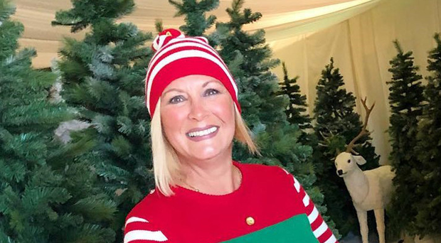 Belfast woman Alison Campbell in her elf outfit