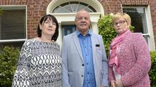 Anne Morgan, Raymond McCord and Breege Quinn at a victims conference at Queen's University in Belfast