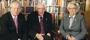 Eamonn Mallie with Ian Paisley, who was the subject of Genesis to Revelation, an in-depth interview with the politician which also featured his wife Eileen