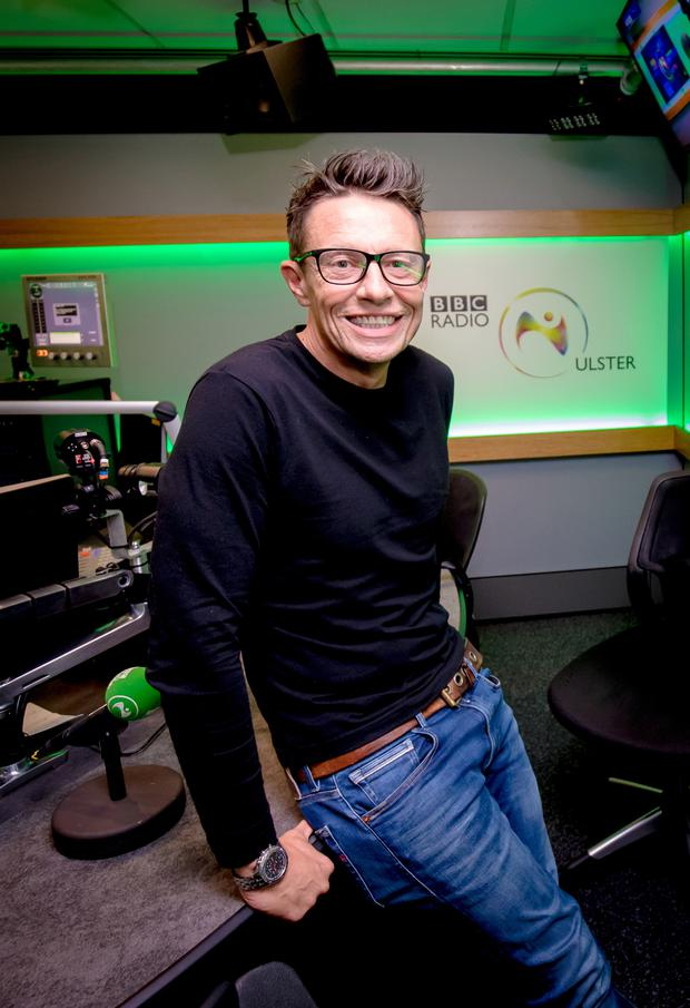 Stephen Clements on his first week at the BBC on September 25th 2019 (Photo by Kevin Scott for Belfast Telegraph)