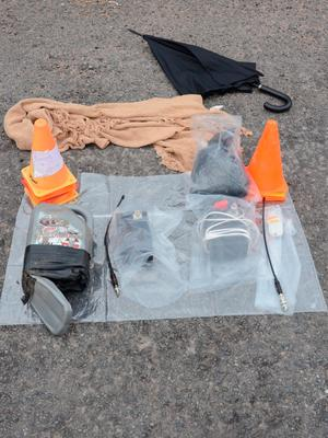 The explosives found in the boot of her car in 2013