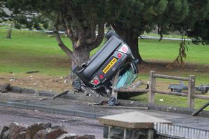 The scene of the fatal crash on the Strand Road in Coleraine last month