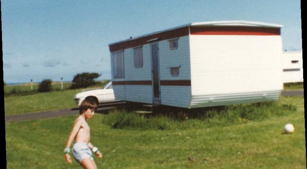 A young Stephen Clements on holiday in Portrush